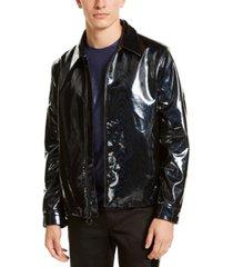 inc men's rubberized harrington jacket, created for macy's