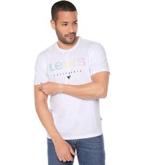 camiseta blanco-multicolor levi's