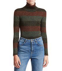 mariel stripe turtleneck sweater