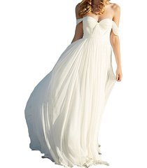 cheap ivory beach wedding dress off shoulder,wedding gown,bridal dress 2017