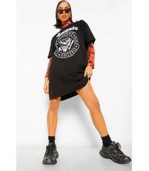 gelicenseerd ramones t-shirtjurk, black