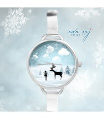 12 % off star girl snow renifer-zegarek + ball