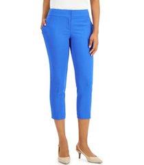 kasper petite slim-leg cropped pants