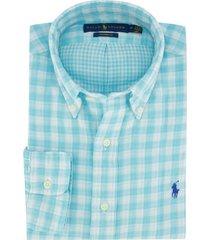 overhemd ralph lauren lichtblauw geruit