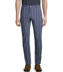 original penguin men's plaid seersucker pants - black iris - size 38 32