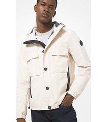 mk giacca in tessuto con cappuccio - canvas beige - michael kors
