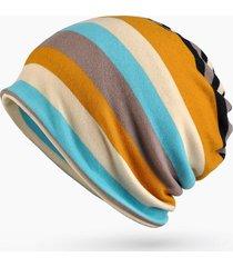 unisex beanie hat a maglia con strisce impermeabile caldo berretto all'aperta sicarpa casul