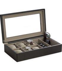 bey-berk sunglass & watch storage box - black