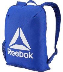 mochila azul reebok act core backpack