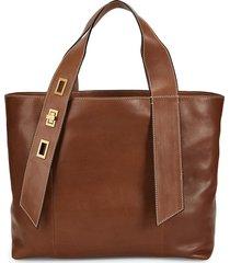 sam edelman women's elle leather tote - luggage