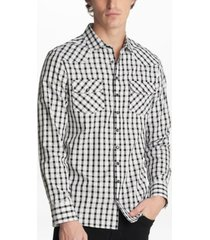 men's long sleeve western plaid shirt