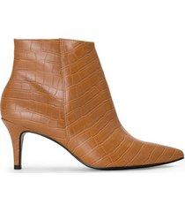 amaro feminino bota cano curto textura, caramelo