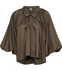 kerala blouse lange mouwen groen totême