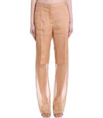 jil sander pants in powder silk