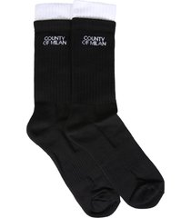 marcelo burlon double wrist socks with logo