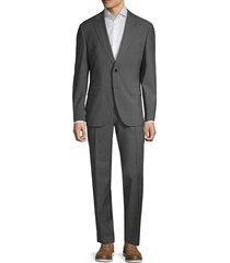 boss hugo boss men's johnston/lenon classic-fit virgin wool suit - dark grey - size 40 r