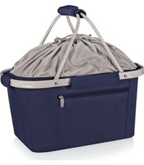 oniva by picnic time metro navy basket collapsible cooler tote