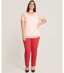 pantalon  mujer clasico unicolor bota recta