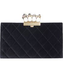 alexander mcqueen designer handbags, jeweled four-ring pouch