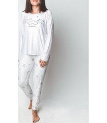 mood pajama sleepy cat- ultra soft long- sleeve pajama set
