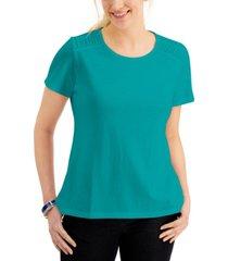 karen scott short sleeve scoop neck t-shirt, created for macy's