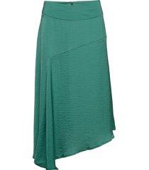 carlie skirt knälång kjol grön cream
