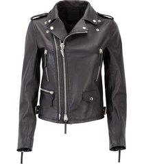 giuseppe zanotti - leather biker jacket denzel