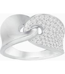 anello guardian, bianco, placcatura rodio