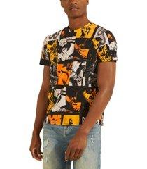 guess men's eco pop photo collage graphic t-shirt