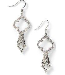 clover glow drop earrings