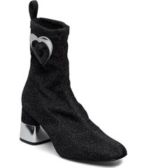 love moschino shoes shoes boots ankle boots ankle boots with heel svart love moschino