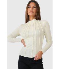 sweater missguided corset cut asymmetric l/s top verde - calce ajustado