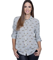 camisa love poetry estampado amarelo