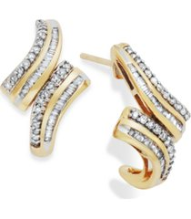 wrapped in love diamond twist drop earrings in 10k gold (1/2 ct. t.w.), created for macy's