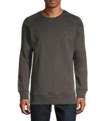 helmut lang men's raglan crewneck sweater - gunmetal - size xl