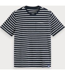 scotch & soda cotton-linen t-shirt