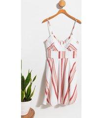 mia vertical stripe dress - multi