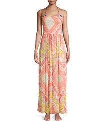 calista print maxi dress