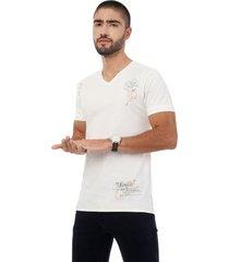 camiseta beige manga corta lec lee