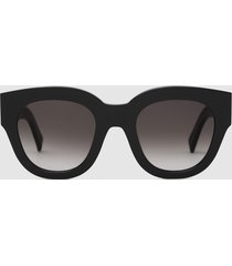 reiss cleo - monokel eyewear acetate sunglasses in black, womens