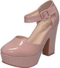zapato formal chely rosado weide