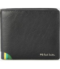 ps by paul smith men's signature stipe billfold wallet - black