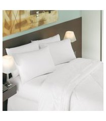 lençol casal para hotel teka safira profiline branco 250 fios
