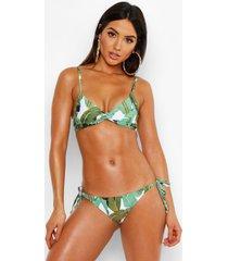 mix & match gedraaide driehoekige beverly hills bikini top, groen