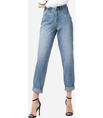 vervet super high rise rolled up tapered boyfriend jeans