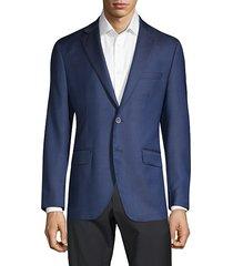 regular-fit textured wool & silk blazer