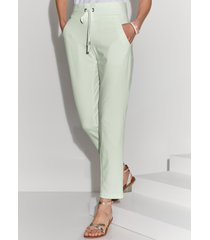 broek in jogg-pant-stijl model cynthia van raffaello rossi groen