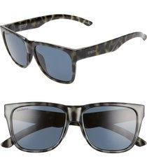 women's smith lowdown 2 55mm chromapop(tm) polarized square sunglasses - camo tortoise