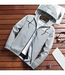 abrigos slim fit cremallera de moda para hombres,primavera otoño-gris