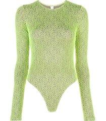 fantabody body barbara com efeito de grade - verde